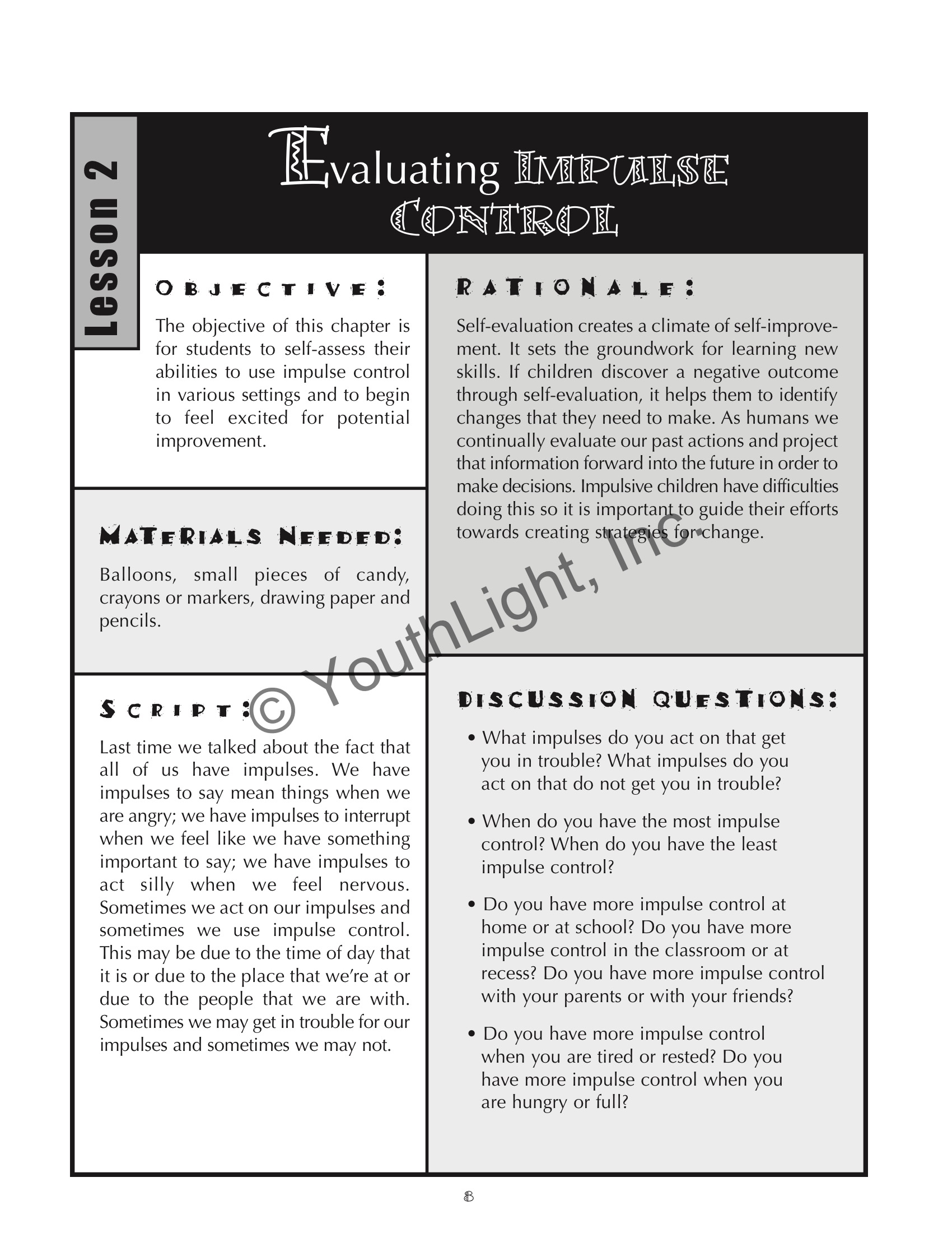 Worksheets Self Control Worksheets impulse control activities worksheets for elementary students with worksheets