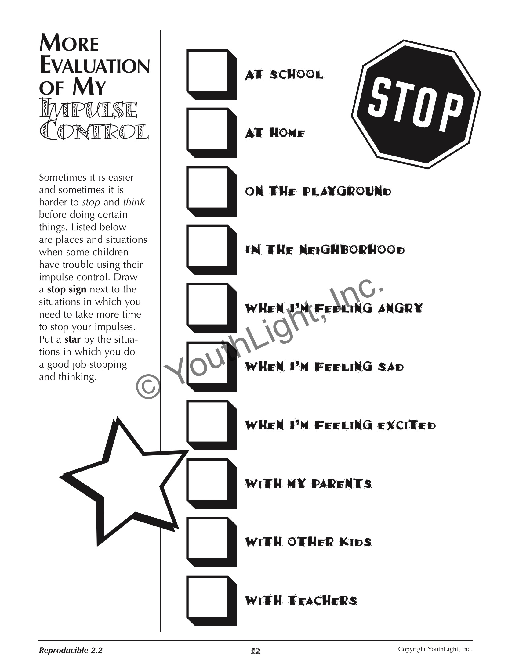 worksheet Stop And Think Worksheets impulse control activities worksheets for elementary students with worksheets