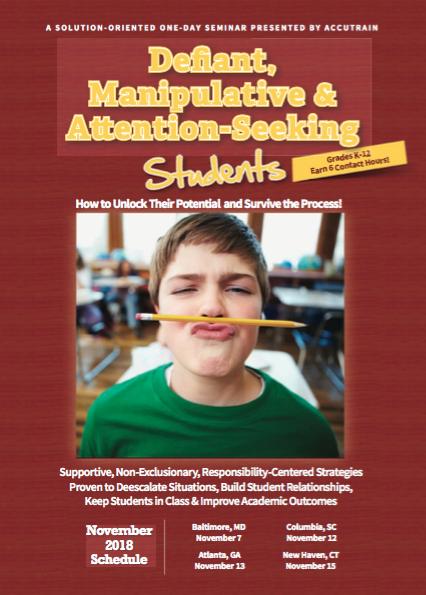 Defiant Students Brochure Fall 2018 Cover