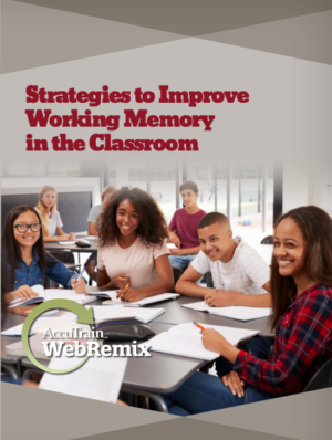 WebRemix™: Strategies to Improve Working Memory in the Classroom