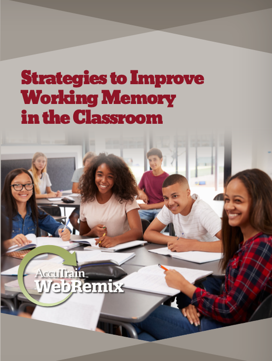 strategies to improve working memeory in the classroom webremix